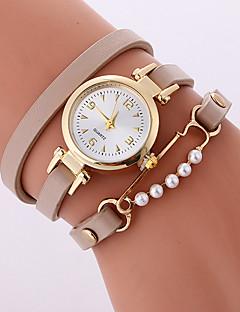 billige Armbåndsure-Dame Quartz Armbåndsur Afslappet Ur PU Bånd Afslappet Mode Sej Sort Hvid Beige Rose