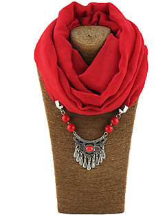 Women's Alloy Resin with Metal Clip Polyster Infinity Scarf Solid All Seasons