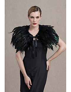 cheap -Feather/Fur Wedding Party / Evening Women's Wrap Capelets