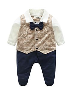 Baby Einzelteil Einheitliche Farbe Baumwolle Frühling/Herbst Lange Ärmel