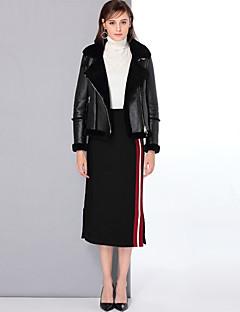 Χαμηλού Κόστους Women's Wool Coats-Γυναικεία Κοντό Γούνινο παλτό Καθημερινά Εξόδου Απλός Βίντατζ Χαριτωμένο Καθημερινό Μονόχρωμο Χειμώνας Μαλλί