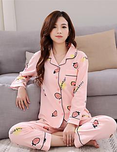Damen Pyjama - Baumwolle Roma Strickmuster