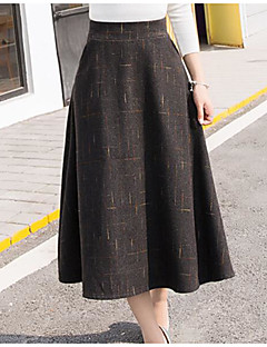 Women's Going out Midi Skirts,Simple A Line Solid Summer