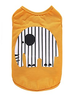 billiga Hundkläder-Hund T-shirt Väst Hundkläder Djur Gul Blå Cotton Kostym För husdjur Herr Dam Fest Ledigt/vardag Semester Födelsedag Mode Sport Bröllop