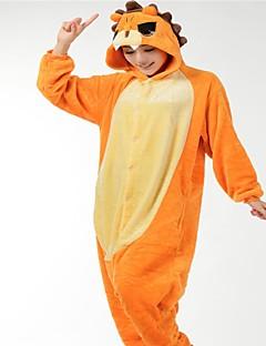 Kigurumi Pyjamas Løve Kostume Oransje Flannelstoff Cosplay Kostumer Kigurumi Trikot / Heldraktskostymer Cosplay Festival / høytid
