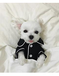 abordables -Chien Pyjamas Vêtements pour Chien Décontracté / Quotidien Britannique Blanc Noir Rose Bleu clair Costume Pour les animaux domestiques