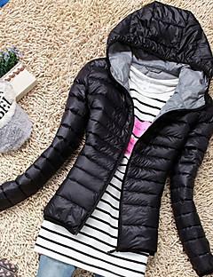 Damen Gefüttert Mantel,Standard Einfach Lässig/Alltäglich Solide-Polyester Polyester Langarm