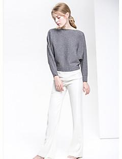 tanie Swetry damskie-Damskie Rękaw nietoperz Pulower Jendolity kolor