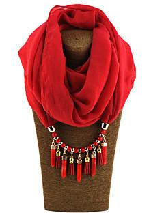 Naiset Infinity Scarf,Tukeva Kaikki vuodenajat Metalliseos Hartsi metallipidikkeellä 47% Wool25% Cotton 28% pellavaa