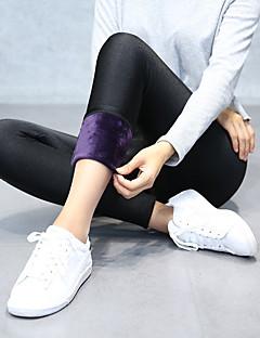 Mulheres Sólido Cor Única Flanelada Esportivo Legging