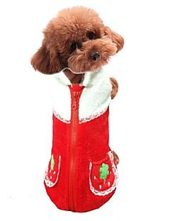 犬 ベスト 犬用ウェア 立ち毛メリヤス生地 春/秋 冬 カジュアル/普段着 果物 オレンジ レッド ペット用