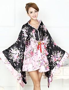 Pokojská Wa Lolita Retro Princeznovské Cosplay Lolita šaty Módní Květinový Tisk Dlouhý rukáv Asymetrický Vrchní deska Sukně Náhrdelník