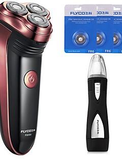 flyco fs301 barberneseapparat med elektrisk barbermaskin tre ekstra hoder 220v vaskbart hode