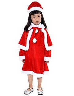 Nisse drakter Mrs.Claus Drakter Barn Halloween Jul Festival / høytid Halloween-kostymer Lapper