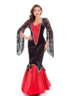 Trollmann/heks Dronning Vampyrer Cosplay Kostumer Voksne Halloween Festival/høytid Halloween-kostymer Mote Vintage