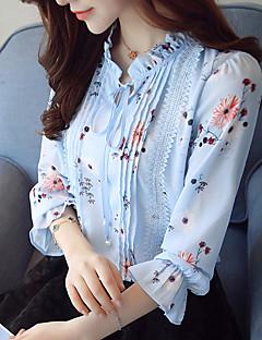 Χαμηλού Κόστους Women's Printed Blouses-Γυναικεία Μπλούζα Δουλειά Φλοράλ Όρθιος Γιακάς