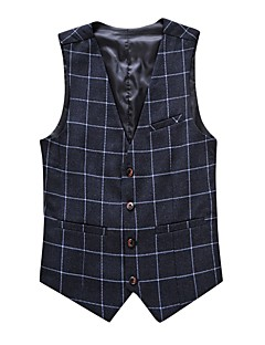 Men's Plus Size Work Casual Spring Fall Vest