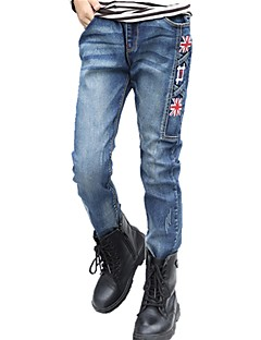 Geborduurd Herfst Alle seizoenen Jongens-Jeans