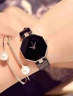 baratos -Mulheres Relógio de Moda Relógio de Pulso Chinês Quartzo / PU Banda Amuleto Casual Elegant Preta Branco Azul Vermelho Roxa