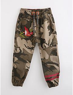 Para Meninos Calças Camuflagem Outono Algodão
