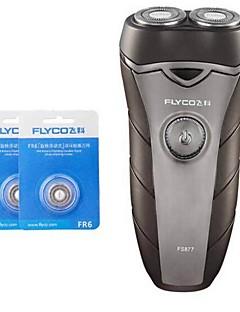 flyco fs877 barbermaskin razor to ekstra hoder 100240v vaskbart hode