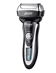 billige -kemei km5568 vaskbar elektrisk barbermaskin rask ladning hele kroppen vaskbar resirkulerende elektrisk barbermaskin fire blad barbering