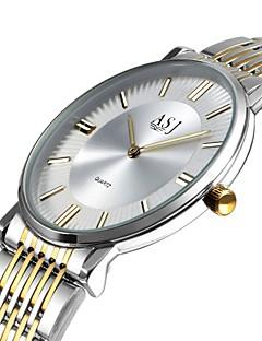 billige -Herre Moteklokke Selskapsklokke Armbåndsur Japansk Quartz Stor urskive Rustfritt stål Band Fritid Elegant Minimalistisk Sølv
