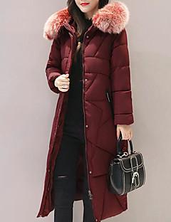 Damen Daunen Mantel Einfach Lässig/Alltäglich Solide-Andere Polypropylen Langarm