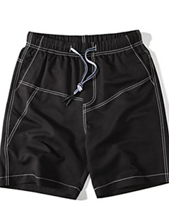 Herre Enkel Mikroelastisk Jeans Shorts Bukser,Tynn Mellomhøyt liv Ensfarget