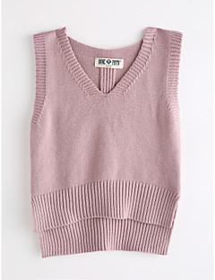 levne Dívčí oblečení-Dívčí Bavlna Jednobarevné Podzim Soupravičky, Bez rukávů Světlá růžová