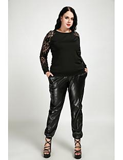 billige Nederdele og bukser til damer-Dame Plusstørrelser Ret Chinos Bukser Ensfarvet