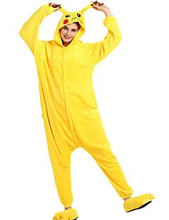 Kigurumi Pyjamas Pika Pika Kostume Gul Cosplay Kostumer Halloween Utstyr Høytidssmykker Kigurumi Trikot / Heldraktskostymer Cosplay