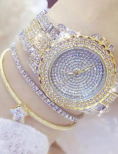 billige Modeure-Dame Modeur / Unik Creative Watch / Diamantbelagt ur Japansk Afslappet Ur Rustfrit stål Bånd Vedhæng Sølv / Guld