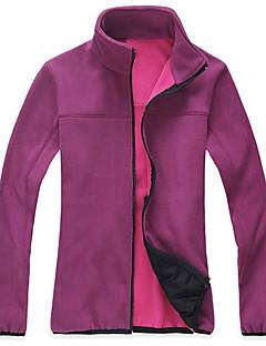 Homens Mulheres Jaqueta Fleece de Trilha Ao ar livre Inverno Manter Quente Tosão Inverno Jaquetas em Velocino / Lã Zíper Visível de