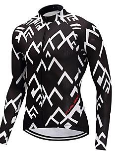חולצת ג'רסי לרכיבה יוניסקס שרוול ארוך אופניים ג'רזי ייבוש מהיר גראפי חורף רכיבה על אופני הרים רכיבה על אופניים ספורט מוטורי אופני הרים