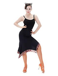 tanie Stroje do tańca latino-Taniec latynoamerykański Topy Damskie Wydajność Brokat Bez rękawów Top