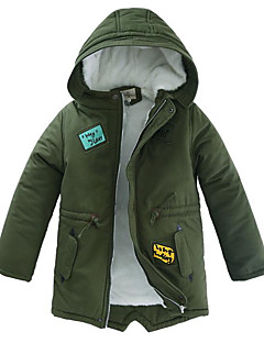 cheap Boys' Jackets & Coats-Boys' Solid Jacket & Coat Winter Navy Blue Army Green Khaki
