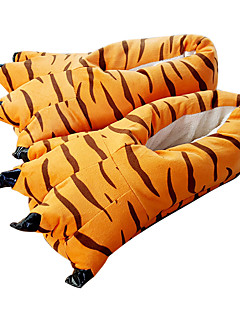 billige Kigurumi-Kigurumi-tøfler Tiger Onesie-pysjamas Kostume polyester Bomull Oransje Cosplay Til Voksne Pysjamas med dyremotiv Tegnefilm Halloween