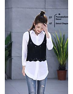 baratos Suéteres de Mulher-Mulheres Sem Manga Pêlo Sintético Colete - Sólido Pêlo Sintético