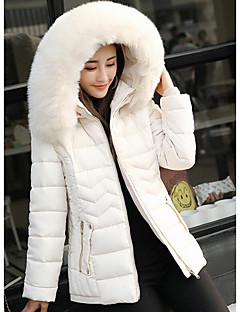 Women's Coat,Casual Daily Solid-Polyester Polypropylene Long Sleeves