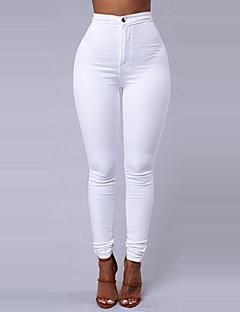 abordables Pantalons-Femme Basique Skinny Pantalon Couleur Pleine / Sortie