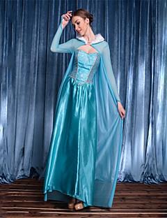 billige Halloweenkostymer-Prinsesse Gudinne Festival / høytid Halloween-kostymer Blå Helfarge
