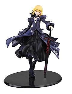 billige Anime cosplay-Anime Action Figurer Inspirert av Fate / Stay Night Saber PVC 22 cm CM Modell Leker Dukke