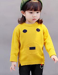 Mädchen Bluse Geometrisch Baumwolle Herbst Lange Ärmel