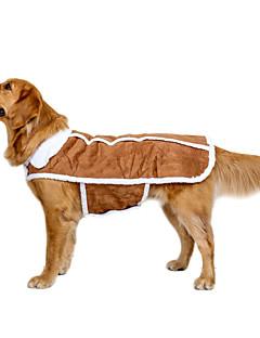 billiga Hundkläder-Hund Kappor Väst Hundkläder Brittisk Brun Tyg Mocka Kostym För husdjur Ledigt/vardag Håller värmen Sport Bröllop Nyår