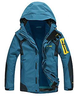 Men's Hiking 3-in-1 Jackets Outdoor Thermal / Warm Wearable Breathable Wind Proof water-resistant Sweat-wicking Jacket Top Full Length