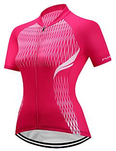 billiga Cykling-FUALRNY® Dam Kortärmad Cykeltröja - Röd Cykel Tröja, Snabb tork, Reflexremsa