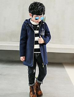 Boys' Solid Jacket & Coat Winter Fall Long Sleeve Green Navy Blue Wine