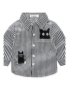 Baby Skjorte Stripe-Polyester-Høst-