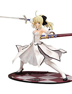 billige Anime cosplay-Anime Action Figurer Inspirert av Fate/Stay Night Saber 23 CM Modell Leker Dukke